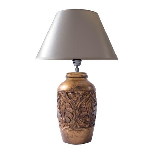 Stolní lampa Mango a hnědá
