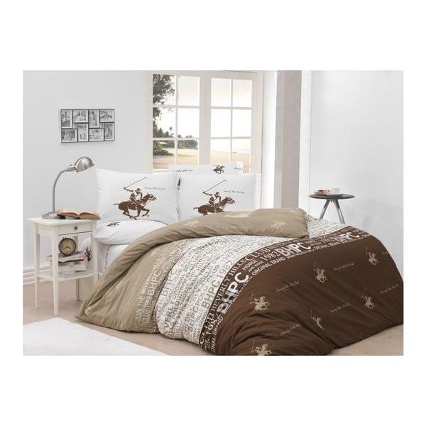 Lenjerie de pat cu cearșaf Beverly Hills Polo Club Chester, 160 x 220 cm
