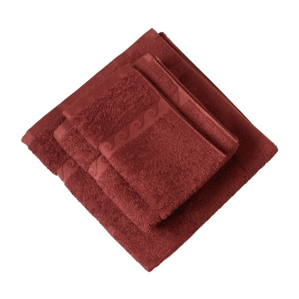 Set ručníků Wave, červený
