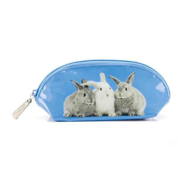 Oválná taštička Rabbits on Blue