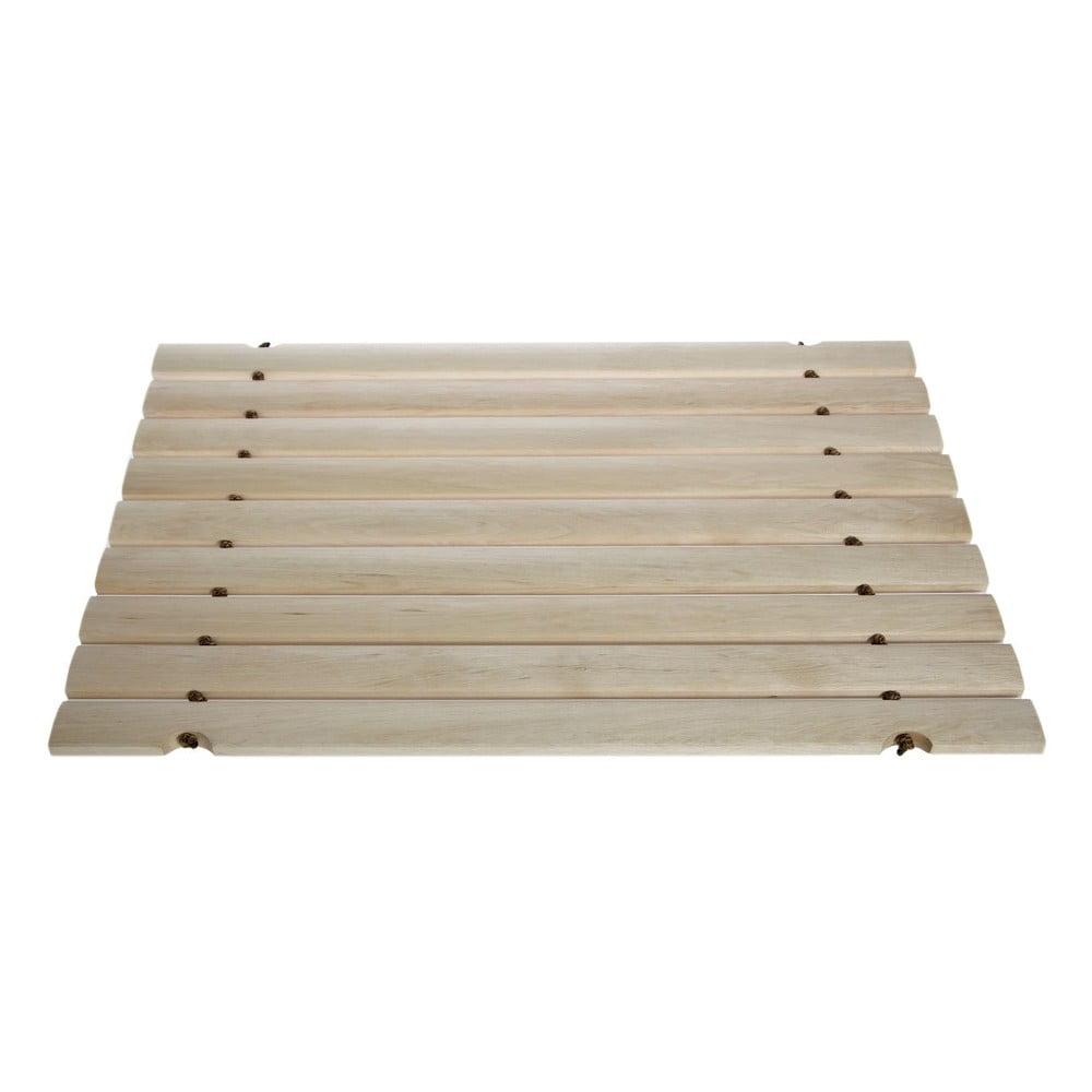 Dřevěná podložka do koupelny Iris Hantverk, 65x42cm