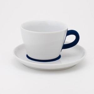 Šálek na cappuccino s podšálkem Touch! Five Senses, modrá