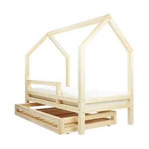 Set sertar și 4 picioare suplimentare pentru patul Benlemi Funny, natural, 80 x 160 cm