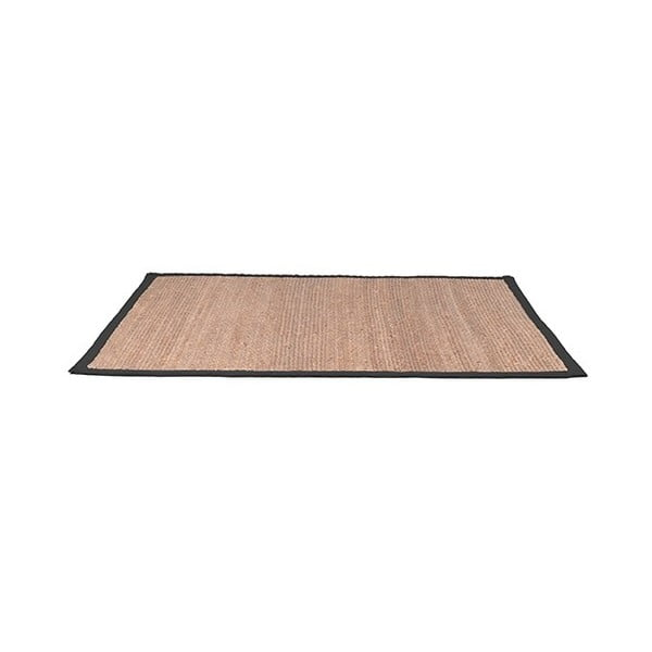 Jutový koberec sčerným bavlněným detailem LABEL51, 140x160cm