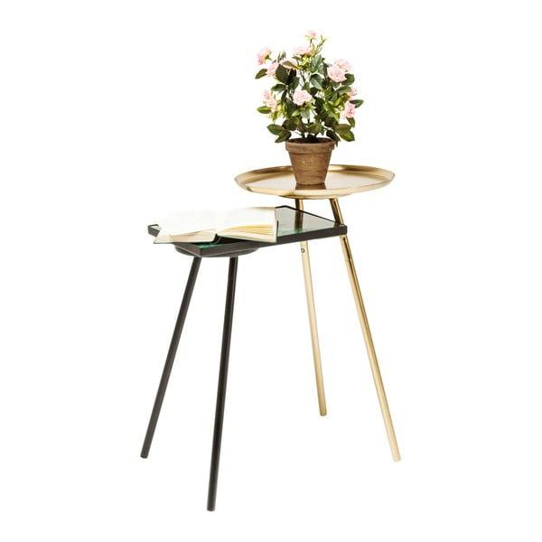 Odkládací stolek s mramorovým detailem Kare Design Plateau