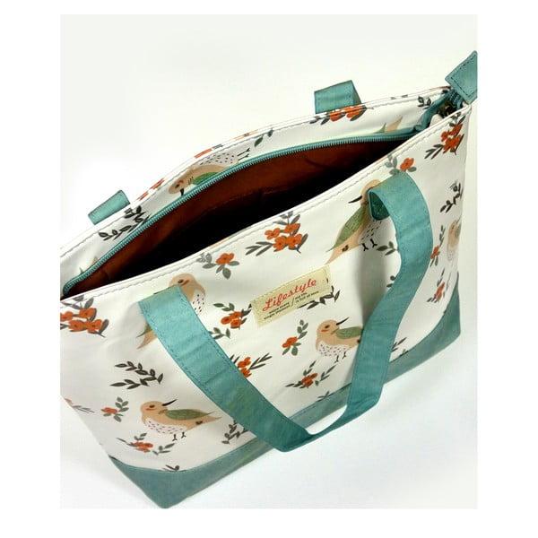 Koženková taška přes rameno Fox, modrá