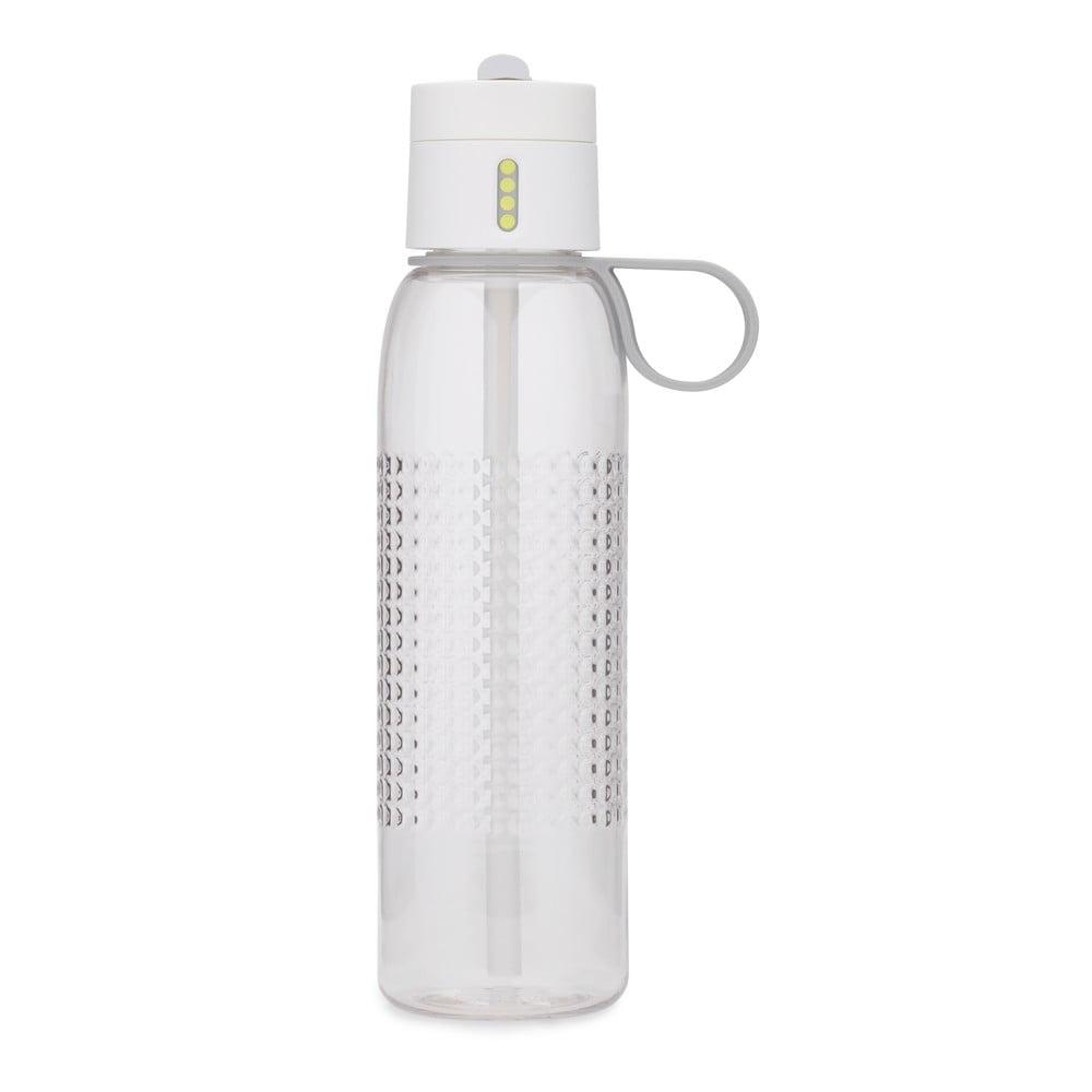 Bílá sportovní láhev s počítadlem plnění Joseph Joseph Dot Active, 750 ml
