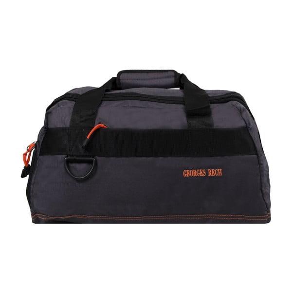 Šedá taška s oranžovými detaily BlueStarMurcie, 34litrů