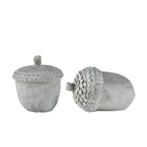 Set 2 figurine decorative de Crăciun KJ Collection Cone II, gri