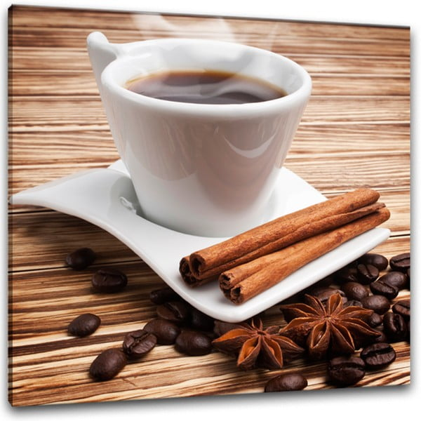 Glasspik Coffee II fali kép, 30 x 30 cm - Styler