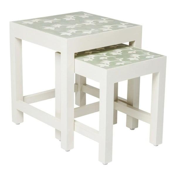 Sada 2 odkládacích stolků z mangového dřeva Kare Design Osaka
