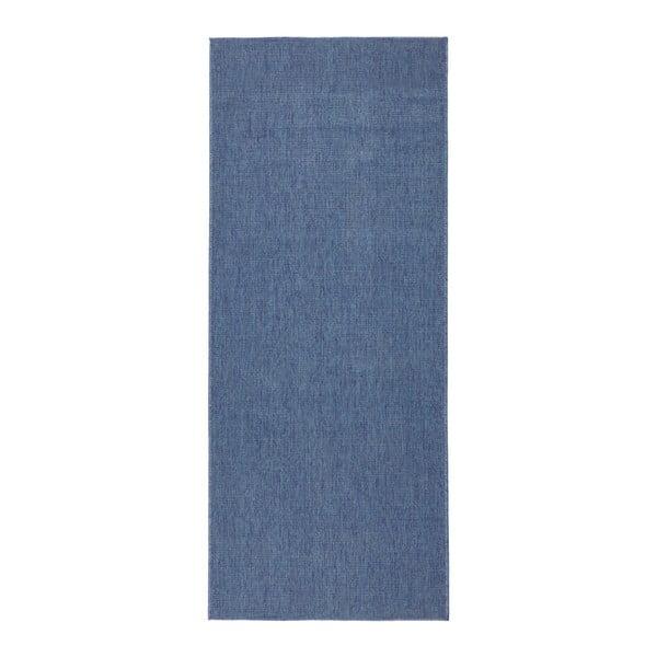 Niebieski chodnik dwustronny odpowiedni na zewnątrz Bougari Bougari Miami, 80x250 cm