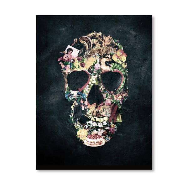 Autorský plakát Vintage Skull