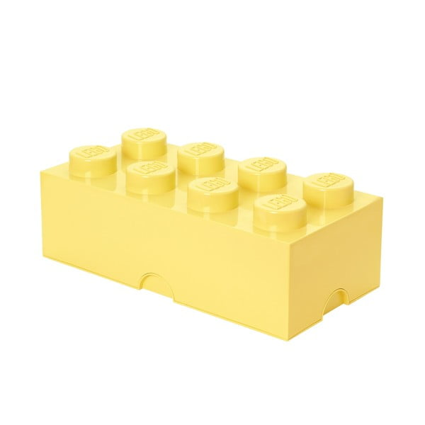 Světle žlutý úložný box LEGO®