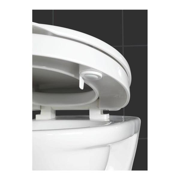 Mírně zvýšené WC sedátko se snadným zavíráním pro seniory Wenko Secura, 43,5 x 37 cm