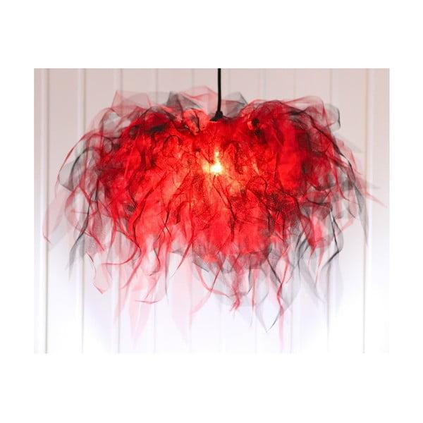 Stropní světlo Ellen Munter vel. S, červené s černým kabelem