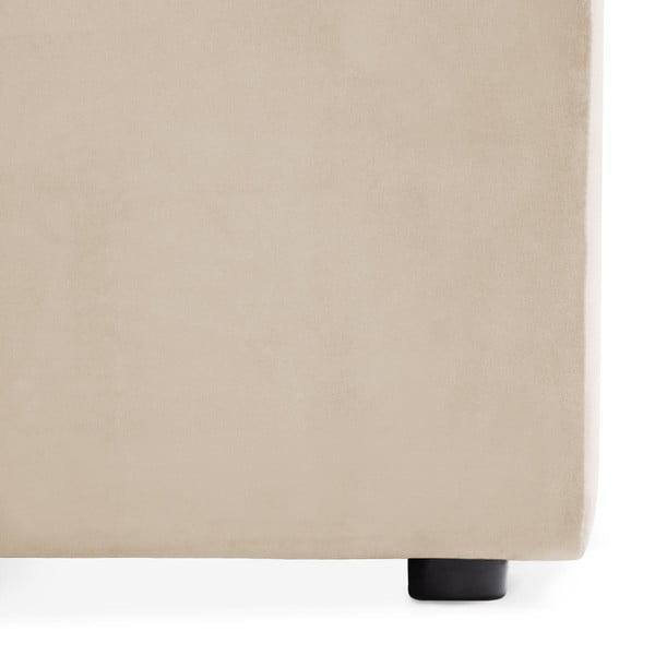Šedokrémový prostřední modul pohovky Vivonita Velvet Cube