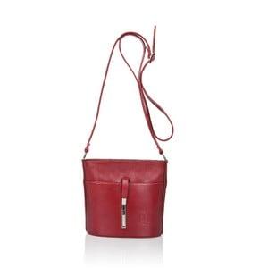 Geantă din piele Markese Calf Mini, roșu