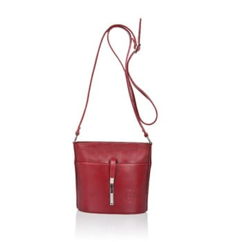 Geantă din piele Markese Calf Mini roșu