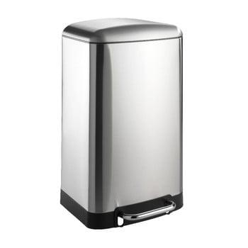 Coș de gunoi Wenko, 30 l, argintiu imagine