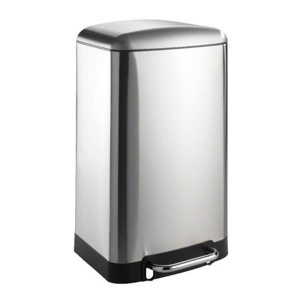 Coș de gunoi Wenko, 30 l, argintiu