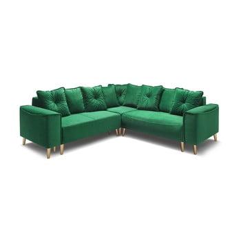 Canapea extensibilă Bobochic Paris Panoramique Hera, verde