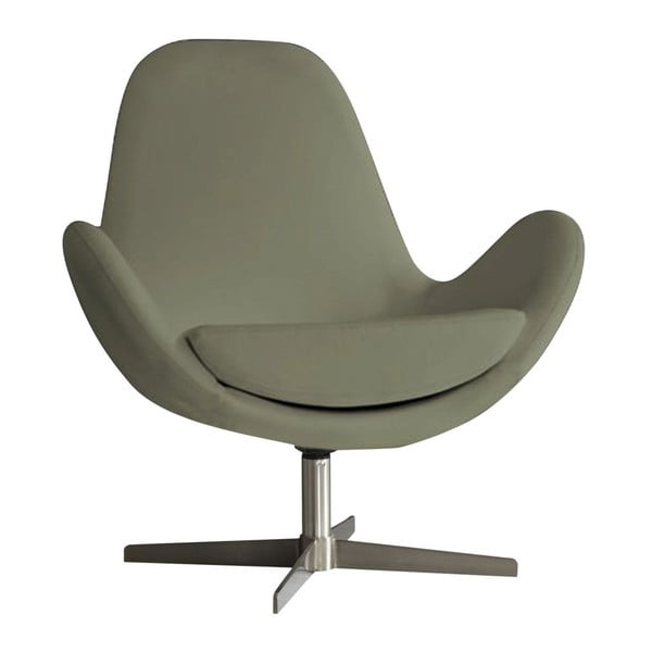 Brązowoszary fotel Design Twist Atene