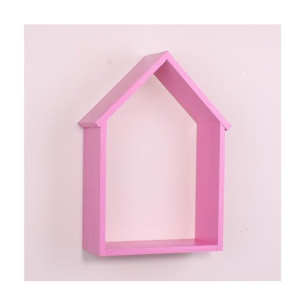 House rózsaszín fa fali polc - North Carolina Scandinavian Home Decors