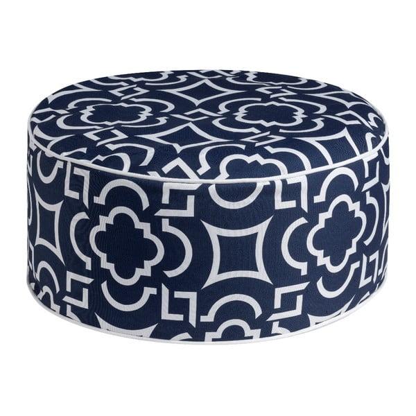 Niebieski puf Brandani Labyrinth, ⌀ 53 cm
