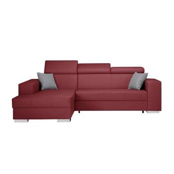 Canapea extensibilă cu șezlong partea stângă Interieur De Famille Paris Tresor roșu