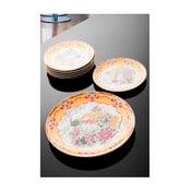 Sada 7 porcelánových talířů na dort Yargici