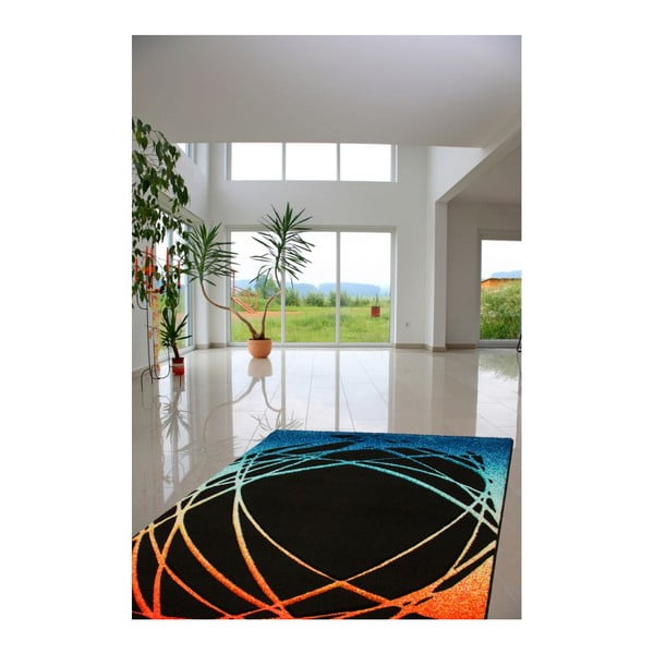 Koberec Lifestyle 111 black/orange, 80x150 cm
