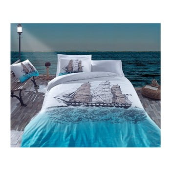 Lenjerie de pat cu cearșaf Eline, 200 x 220 cm de la Cotton Box