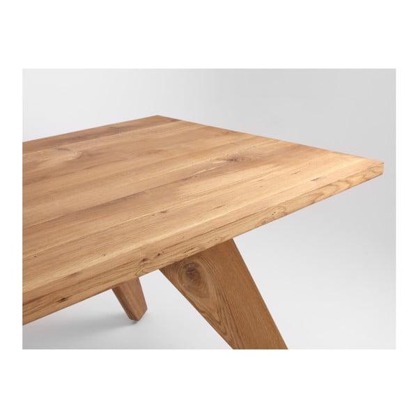 Jídelní stůl z dubového dřeva Custom Form Alano,200x100cm