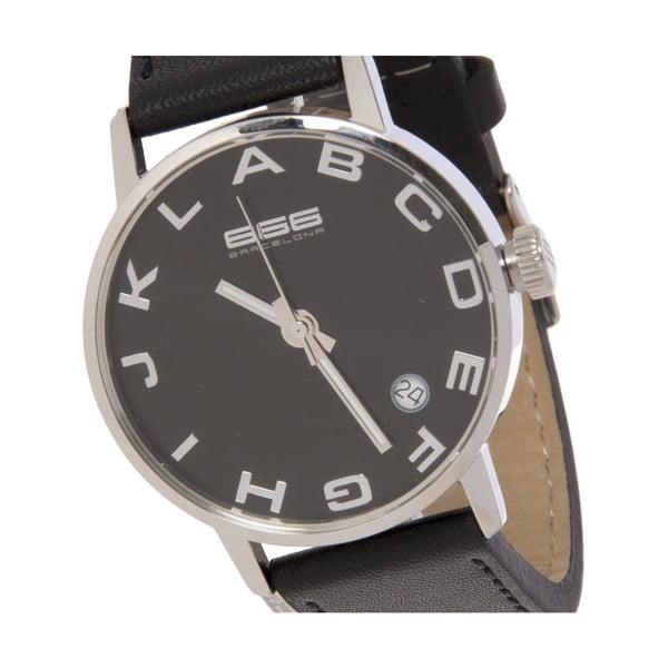 Dámské hodinky Alphabet Lady Leather Black/Silver