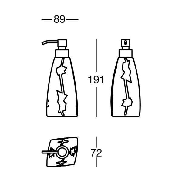 Držák na mýdlo Silver Soap, 9x19x7 cm