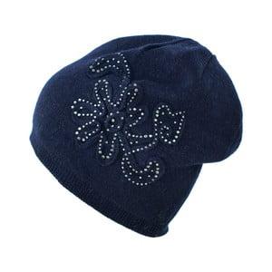 Modrá čepice se třpytivými kamínky Star