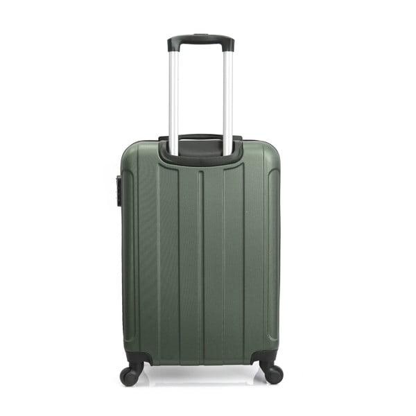 Tmavě zelený cestovní kufr na kolečkách Hero Fogo, 60 l