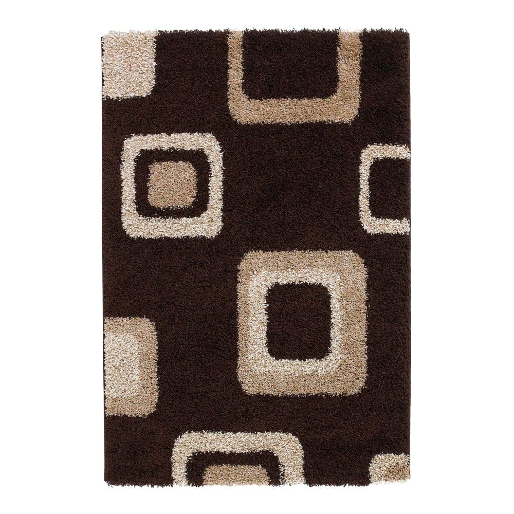 Hnědý koberec Think Rugs Majesty, 80 x 150 cm