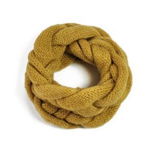 Fular circular Natte Yellow