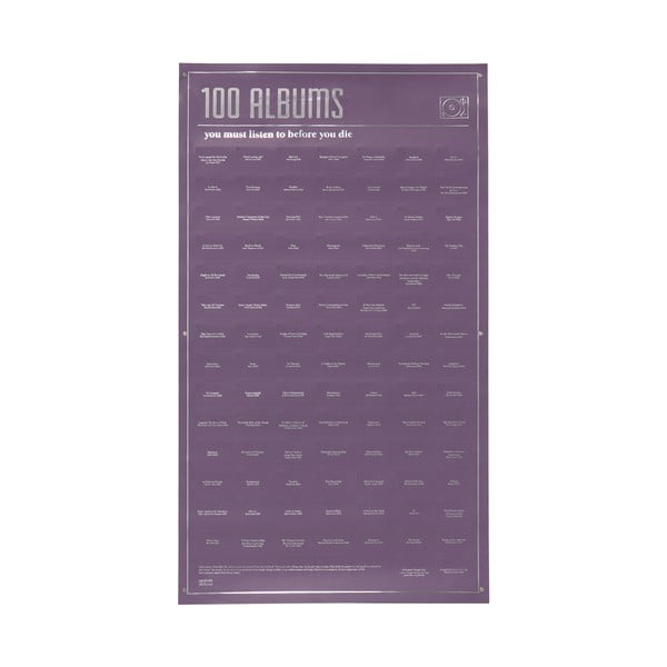 Plagát DOIY 100 Albums You Must Listen, 35 x 64 cm