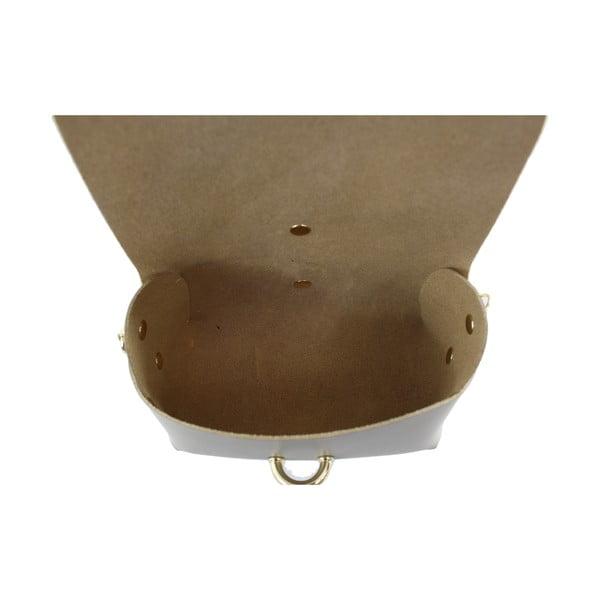 Kožená kabelka přes rameno Slaygie, taupe