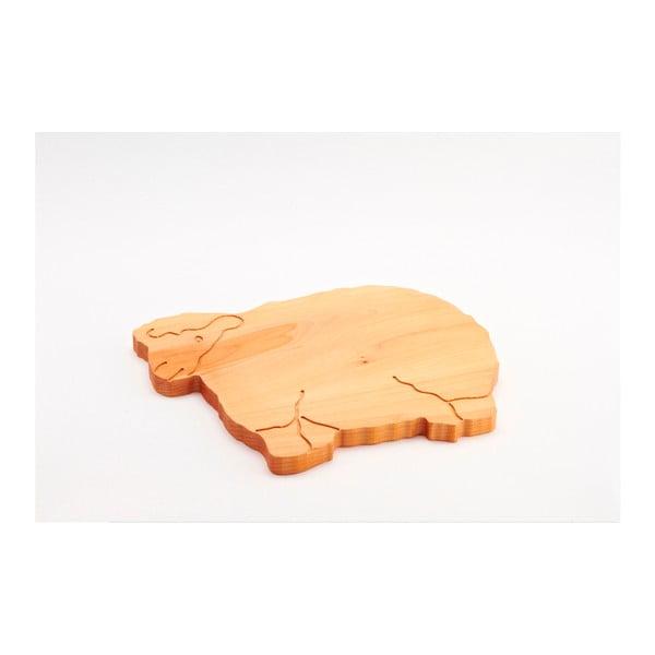 Lopárik z bukového dreva Bisetti Sheep, 34×29cm