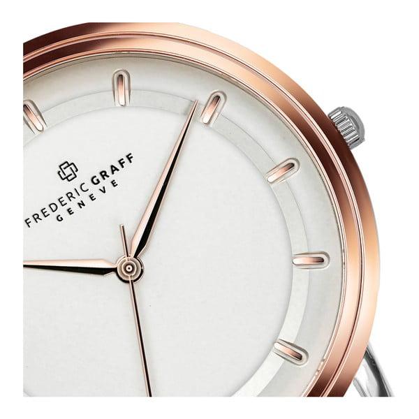Unisex hodinky s páskem ve zlatorůžové barvě z nerezové oceli Frederic Graff Jarido