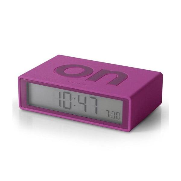 Překlápěcí budík Flip, fialový