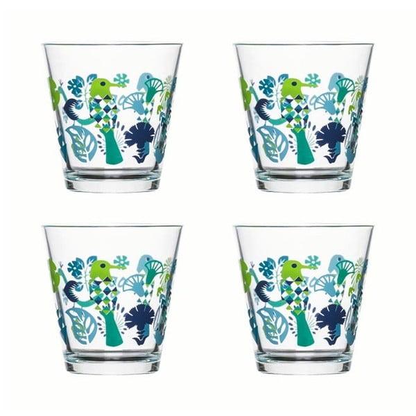 Sada 4 skleniček Fantasy 200 ml, zelená