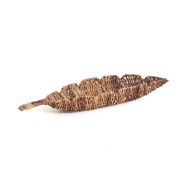 Proutěná miska Leaf, 61 cm