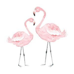Autocolant pentru perete Dekornik Flamingos, 55 x 55 cm