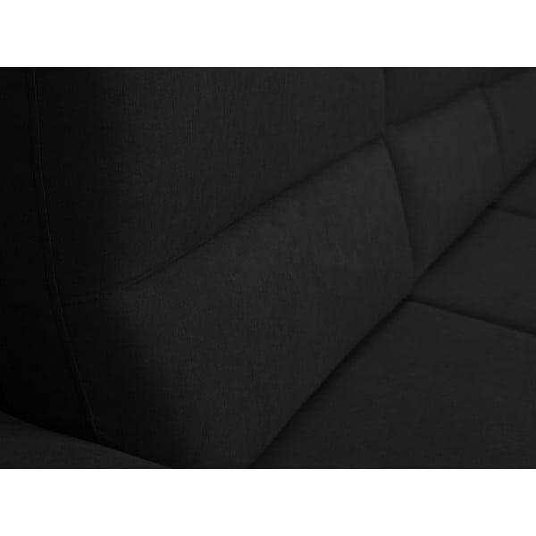 Černá rozkládací rohová pohovka Windsor & Co Sofas Omega, pravý roh