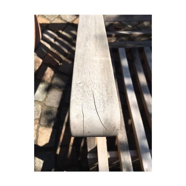 Zahradní lehátko z teakového dřeva ADDU